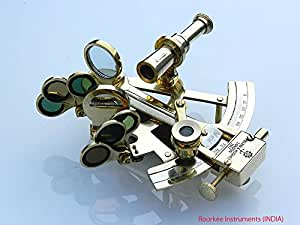 Brass Pocket Sextant Kelvin Hughes London Solid Brass Sextant marine Gift Astrolabe by Roorkee Instruments (INDIA)