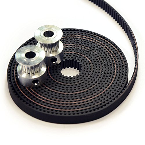 Belt Pulley (2 x Aluminum GT2 16T Pulley and 2M Belt for RepRap 3D printer Prusa i3)