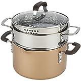 emeril copper cookware - Emeril Lagasse 63140 Nonstick 4-Quart Multi-Cooker Saucepot with Fryer and Steamer Attachments, Copper
