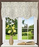 Ellis Curtain Blissfulness 50'' x 15'' Lined Scallop Valance, Spa
