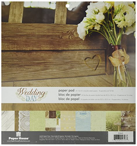 Paper House Productions PP-0049E Wedding Day Paper Pads, 12