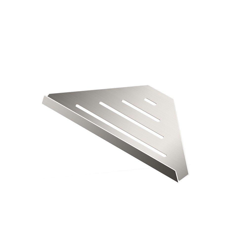 Gatco 1471 Elegant 9'' Corner Shower Shelf, Satin Nickel