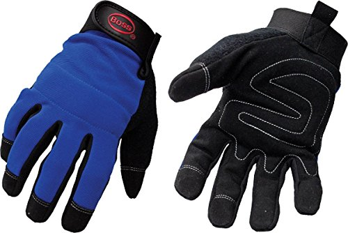 Boss 5205L Blue Mechanic Glove, Large, - Hugo Shop Boss