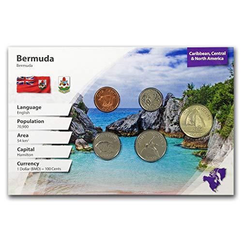 BM 2018 Bermuda 1 Cent - 1 Dollar 5-Coin Set BU (Landscape Packaging) Brilliant Uncirculated