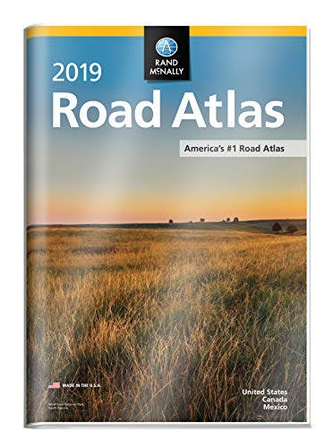 2019 Rand McNally Road Atlas with Protective Vinyl Cover (Best Google Street View)