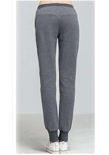 Damen Sporthose mit Bindebändern Fleece Jersey-Hose im Sport-Stil   Amazon.de  Bekleidung 0b0e3e10c6