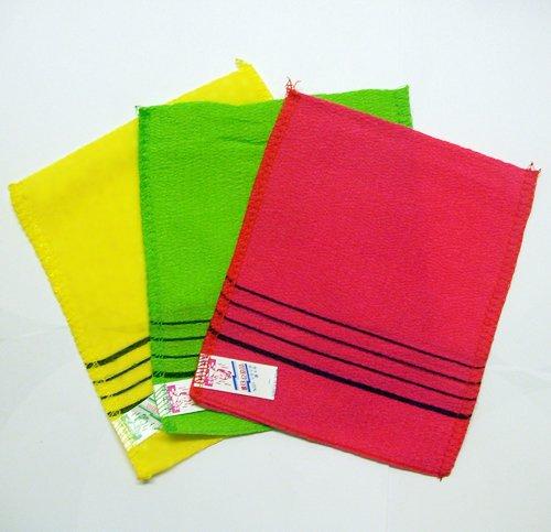 (9 Exfoliating Washcloth Gloves & 1 Long Exfoliating Back Washcloth - Assorted)
