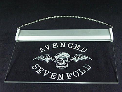 Pattern Avenged Sevenfold Bar Hub Advertising LED Light Sign J649B