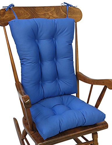 Superb The Gripper Non Slip Twill Rocking Chair Cushions Blue Summer Machost Co Dining Chair Design Ideas Machostcouk