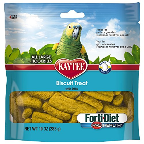 Kaytee Forti-Diet Pro Health Bird Treat  Biscuits for Parrots, 10-Ounce (Diet Macaw)