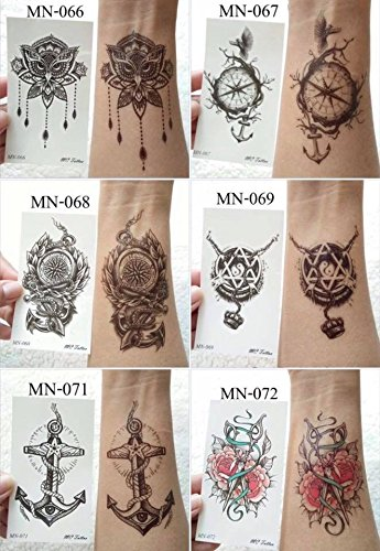 Tattoo Sticker, Water Proof, Size 10.5 x 6 cm by Thailand