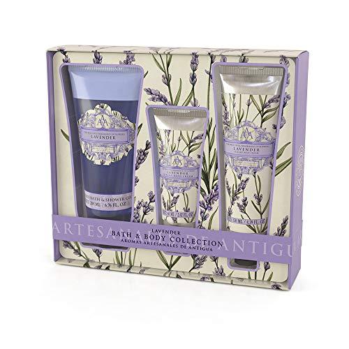 Shower Gel 200ml, Hand Cream 60ml & Body Cream 130ml (Lavender)