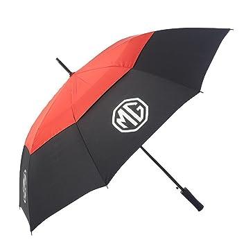 MG Paraguas de Golf de Doble Capa, Rojo/Negro