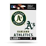 Oakland Athletics A's Triple Sticker Multi Decal Spirit Sheet Auto Home Baseball