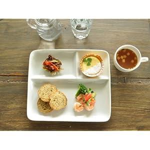 【M'home style】白い食器 チョー使いやすいM'オリジナルランチプレート ホワイトレベル2