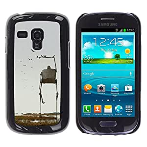 iKiki Tech / Estuche rígido - Art Nature Birds Sci-Fi Fiction - Samsung Galaxy S3 MINI NOT REGULAR! I8190 I8190N