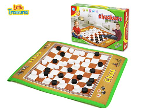 Giant Checkers Mat Game for Indoor/Outdoor Play - A Traditional Game with a Giant Twist!