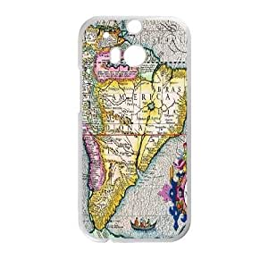 Vintage World Map For HTC One M8 Phone Cases NDG617208