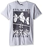 WWE Men's RIC Flair Stylin and Profilin T-Shirt, Sport Grey, Large