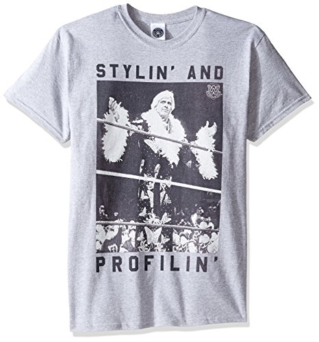 WWE Men's Big and Tall Ric Flair Stylin and Profilin T-Shirt, Sport Grey, 3XL by WWE
