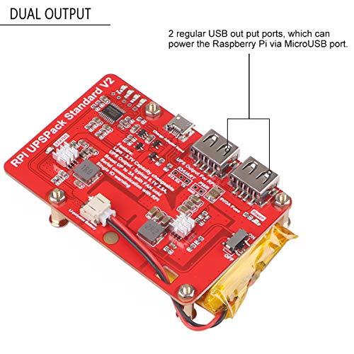 MakerFocus Raspberry Pi Battery Pack,RPI UPS Pack Standard