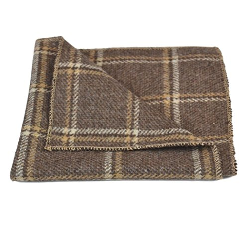 Pecan Brown Check Set Pocket amp; Heritage Bow Square Tie OwP5nwdq