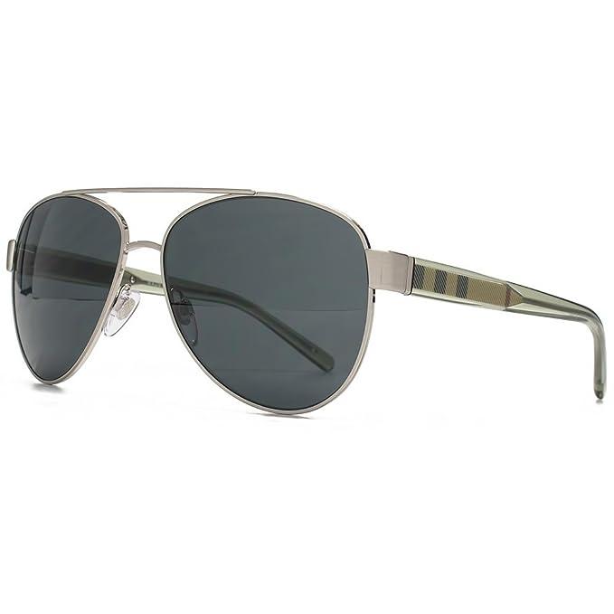 BURBERRY - Gafas de sol - para mujer gris gris 57: Amazon.es ...