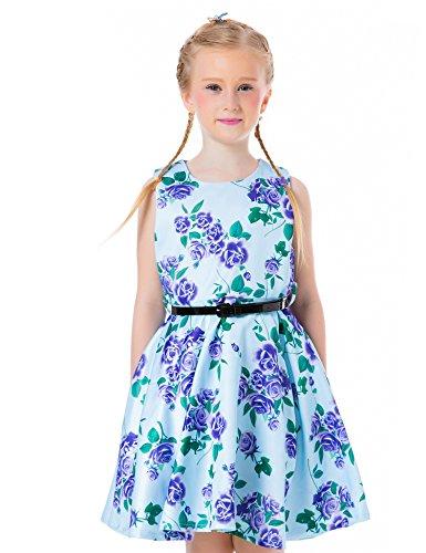 Vintage Flower Print Dress - 9