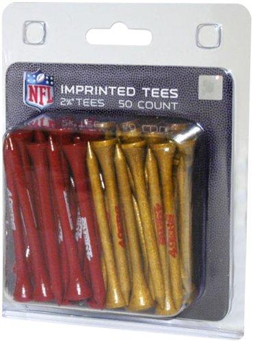 Team Golf NFL San Francisco 49ers 2-3/4 Golf Tees, 50 Pack, Regulation Size, Multi Team Colors