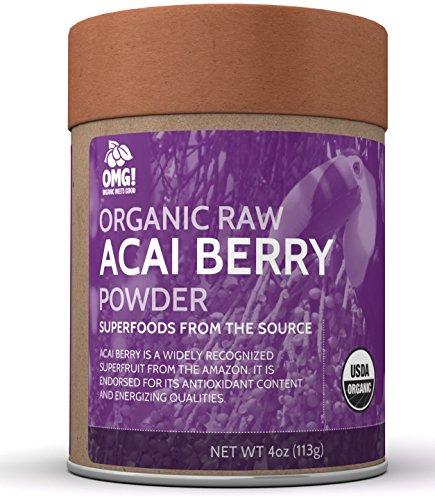 Acai Powder (OMG! Superfoods Organic Acai Berry Powder - 100% Pure, USDA Certified Organic Acai Berry Powder - 4oz)