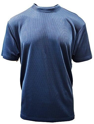 STACY ADAMS Men's Basic Crew Neck T-Shirts (5XL, New Navy) ()