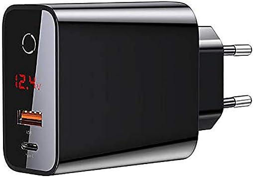 QYEND Cargador Rápido para Teléfono Móvil, Cargador De Carga Rápida De 45 W, Cargador USB Apagado Inteligente Compatible con iPhone, iPad Pro Air Mini, Tablet,Blackeu: Amazon.es: Deportes y aire libre