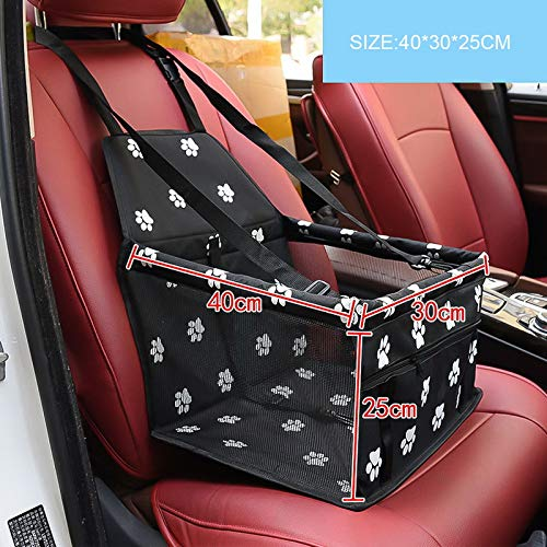 Black 400x300x250mm Aigou Dog Bed Pet Car Booster Seat Front Seat Cover For Dog Cat, Portable 2In1 Dog Seat Predection NonSlip Waterproof With Safety Belt