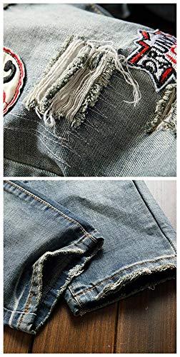 Stretch Il Slim Denim Giovane Per Jeans Libero Fit Vintage Uomo Tempo Colour Rt A Da Gamba Strappati Dritta PxOqRHnA