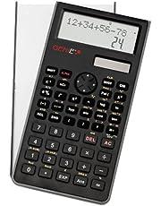 Genie 82 SC technisch-wetenschappelijke rekenmachine (240 functies, 10 punten, 2 regels display, incl. beschermdeksel) zwart
