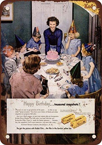 1950 Kodak film per feste di compleanno per bambini vintage look