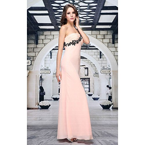 Ball Damen bei Chiffon 42 In Apricot Kleid Gr Design Für Maxi Festamo Ital R5Xqwvv