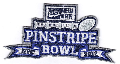 2012 New ERA Pinstripe Bowl Game Jersey Patch (New Yotk City) Syracuse vs. West Virginia - Syracuse Bowl Games