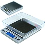 Liteway Prime Best Seller 500g x 0.01g Digital Precision Pocket Scale Kitchen Lab Counting Scale with Trays, Sleek Design,, Comes with Two Batteries
