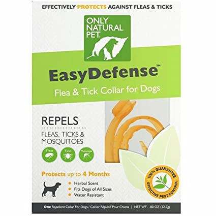 Amazoncom Only Natural Pet Easydefense Flea Tick Dog Collar