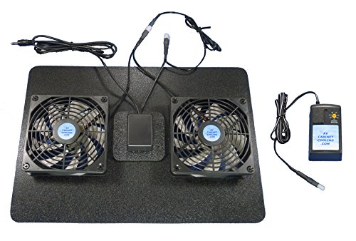 Receiver or Amplifier Megabase 12 Volt Trigger-Controlled Cooling Fans (12v), with multispeed Control, for Home Theater