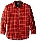 Pendleton Men's Long Sleeve Button Front Classic-Fit Trail Shirt, Copper Plaid-31970, LG