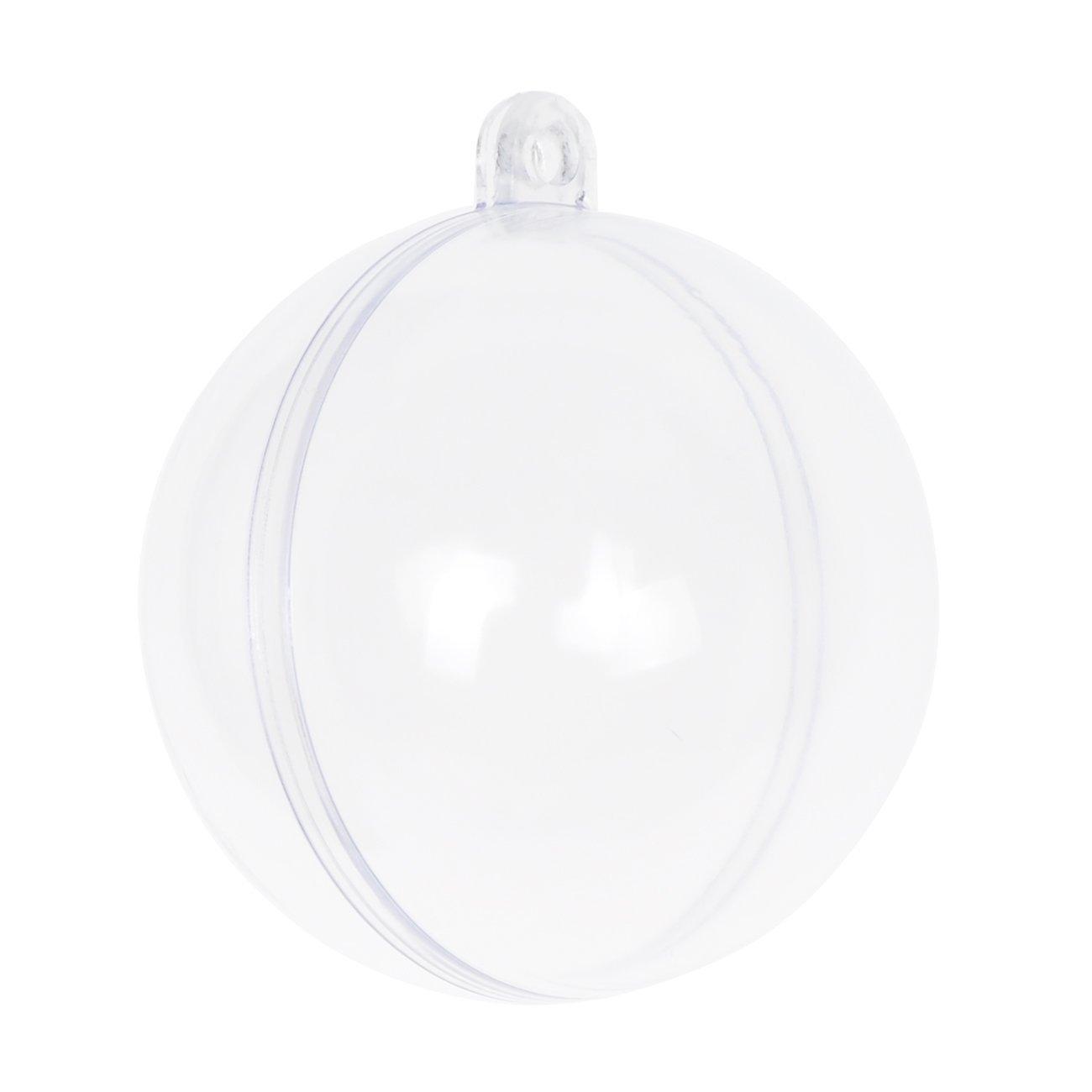 Clear plastic ornaments - Amazon Com Seekingtag Clear Diy Fillable Plastic Ball Craft Ornaments 50 Mm Pack Of 12 Home Kitchen