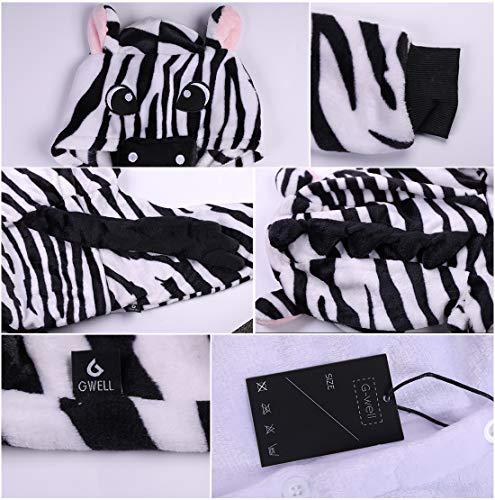 Gwell Déguisements Unisexe De Filles Animaux Animal Chaud Nuit Enfant Zèbre Vêtements Cosplay Pyjama Combinaison Costume Sommeil Garçons Hiver Outfit rrqPzwd