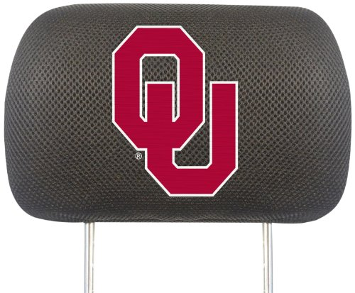 FANMATS NCAA University of Oklahoma Sooners Polyester Head Rest Cover by Fanmats