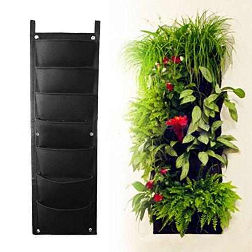 7 Pocket Wall Hanging Vertical Garden Planter Indoor Outdoor Herb Pot Decor New