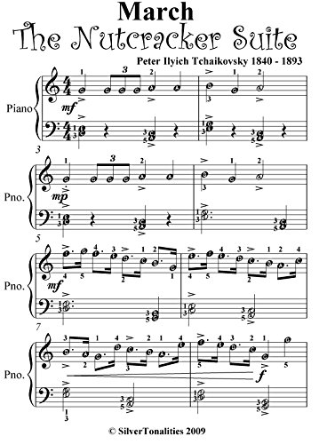 March Nutcracker Suite Tchaikovsky Easiest Piano Sheet Music