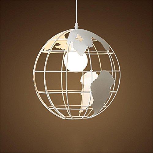 (Chandeliers Scandinavian Modern Minimalist Single-Head Iron Globe Bar Restaurant Cafe boutiques Bedroom Studio (Color :)