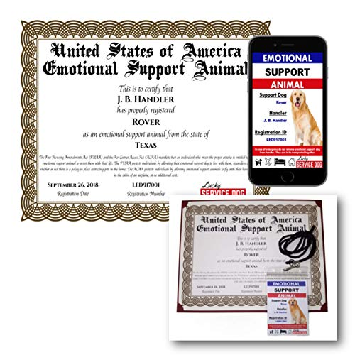Emotional Support Dog Certificate & Photo ID (Best Site To Register Emotional Support Animal)