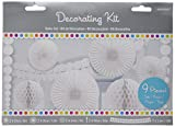 Amscan Frosty Party Decorating Kit, White